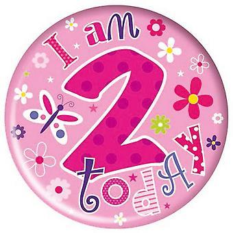 Simon Elvin Childrens/Girls Happy 2nd Birthday Today Giant Badge
