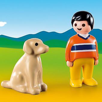 PLAYMOBIL 1.2.3 człowieka z psem