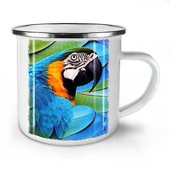 Parrot Bird Cute NEW WhiteTea Coffee Enamel Mug10 oz | Wellcoda