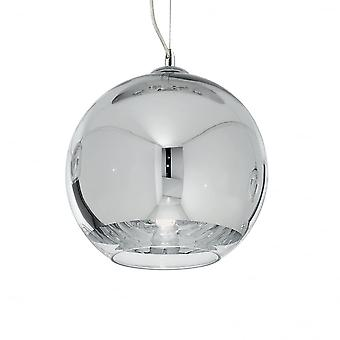 Ideal Lux Discovery Mirror Chrome 30cm Globe Pendant Ball Light