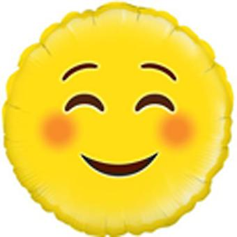 Oaktree Betallic 18 Inch Foil Smile Emoji Balloon