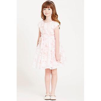 少し MisDress ピンク オーガンザ ボウ ウエスト ドレス