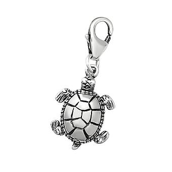 Turtle - 925 Sterling Silver Charms With Lobster - W28884x
