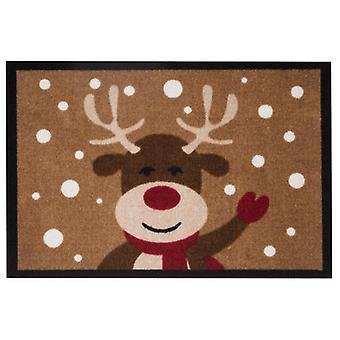 Doormat dirt trapping pad reindeer reindeer Brown 40 x 60 cm