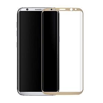 Premium 0,3 mm taivutettu karkaistu lasi Kulta folio Samsung Galaxy S8 sekä G955 G955F