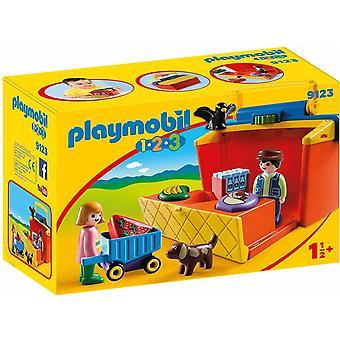 Playmobil 9123 1.2.3 mitnehmen Marktstand