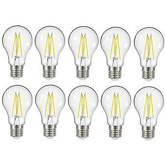 10 X Energizer 7.2W = 60W LED Filament GLS Light Bulb Lamp Vintage ES E27 Clear Edison Screw [Energy Class A+]