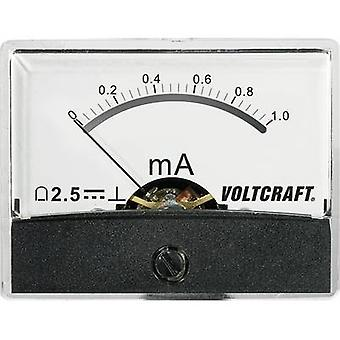 Analoge Rack-Mount Messgerät VOLTCRAFT PM-60 X 46/1MA/DC 1 mA