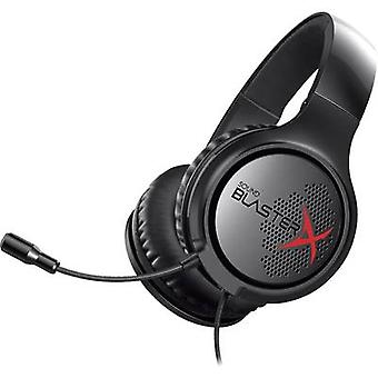 Sound BlasterX Sound BlasterX H3 Gaming headset 3.5 mm jack Corded, Stereo Over-the-ear Black, Red
