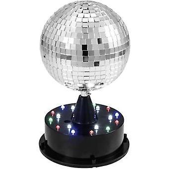 Eurolite 42109267 LED (أحادية اللون) مرآة الكرة مجموعة شاملة. قاعدة، بما في ذلك. إضاءة LED 13 سم