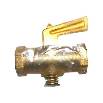 Big A 3-33244 Inverted Shutoff 1/4 NPTF Female Drain Cock Brass Valve