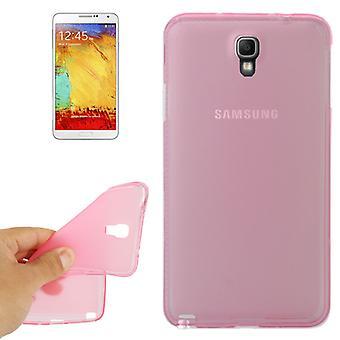 Handyhülle TPU Schutzhülle für Samsung Galaxy Note 3 Neo N7505 rosa transparent