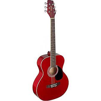 STAGG Auditorium Acoustic Guitar - rot