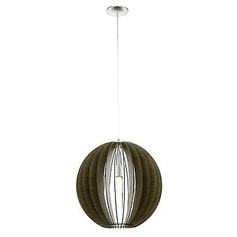 Eglo Cossano 500mm Dark Brown Wood Globe Silhouette Pendant