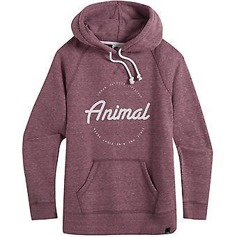 Animal Speckles Pullover Hoody in Woodrose Pink Marl