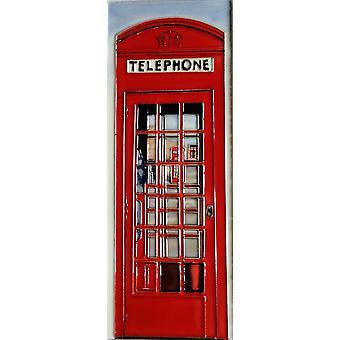YH Arts Ceramic Wall Art, Telephone Box 6 x 16