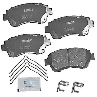 Bendix Premium Copper Free CFC476 Ceramic Brake Pad (with Installation Hardware Front), 4 Pack