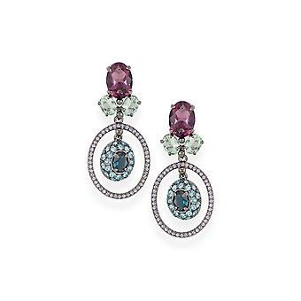 Multicolor earrings with crystals from Swarovski 4804