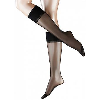 Falke Pure Matte 20 Denier Transparent Sensitive Top Matte Knee-High Tights - Black