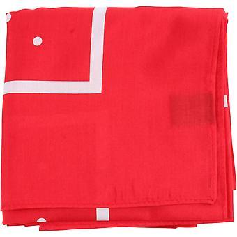 Knightsbridge Neckwear Polka Dot Border Cotton Neckerchief - Red/White