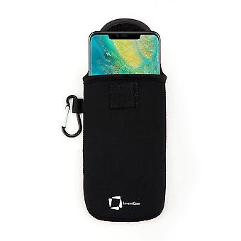 InventCase Neoprene Protective Pouch Case for Huawei Mate 20 Pro 2018 - Black