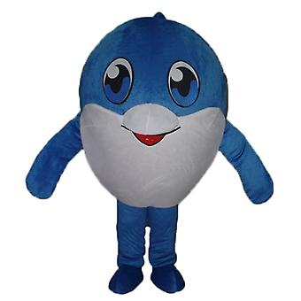 mascot big fish blue and white, very cute SPOTSOUND