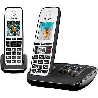 Gigaset A670A DUO téléphone noir/blanc