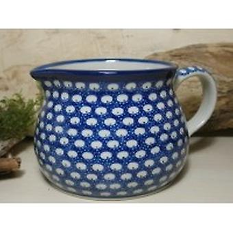 Pitcher, 500 ml, height 9 cm, 4 traditional polish pottery - BSN 7397