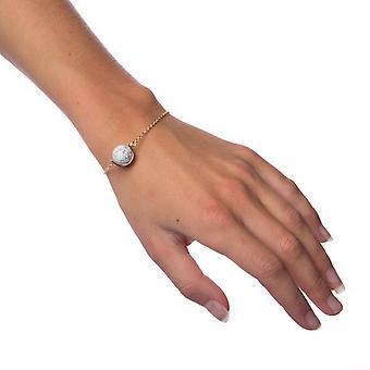 Armband Marmor Kugel-Weiß