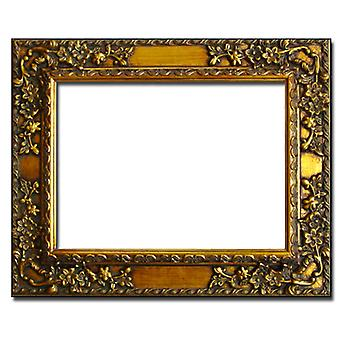 Mirror in gold, outer dimensions 64x74 cm (Golden Leaf)