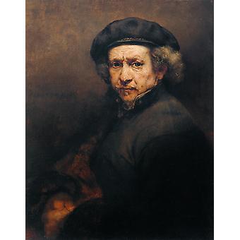 Self-Portrait, Rembrandt van Rijn, 50x40cm