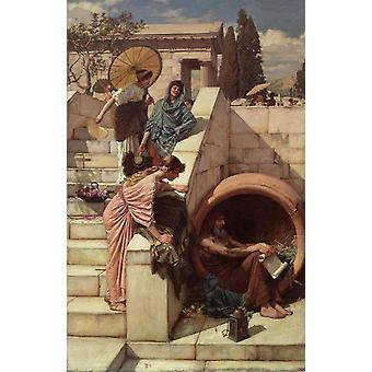 Diogenes, John William Waterhouse, 60x40cm