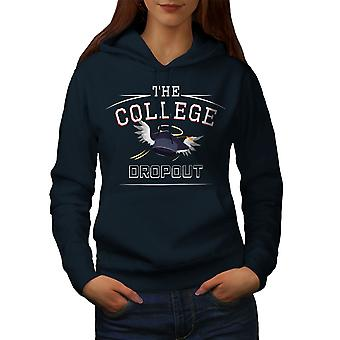 College Dropout Funny Women NavyHoodie | Wellcoda