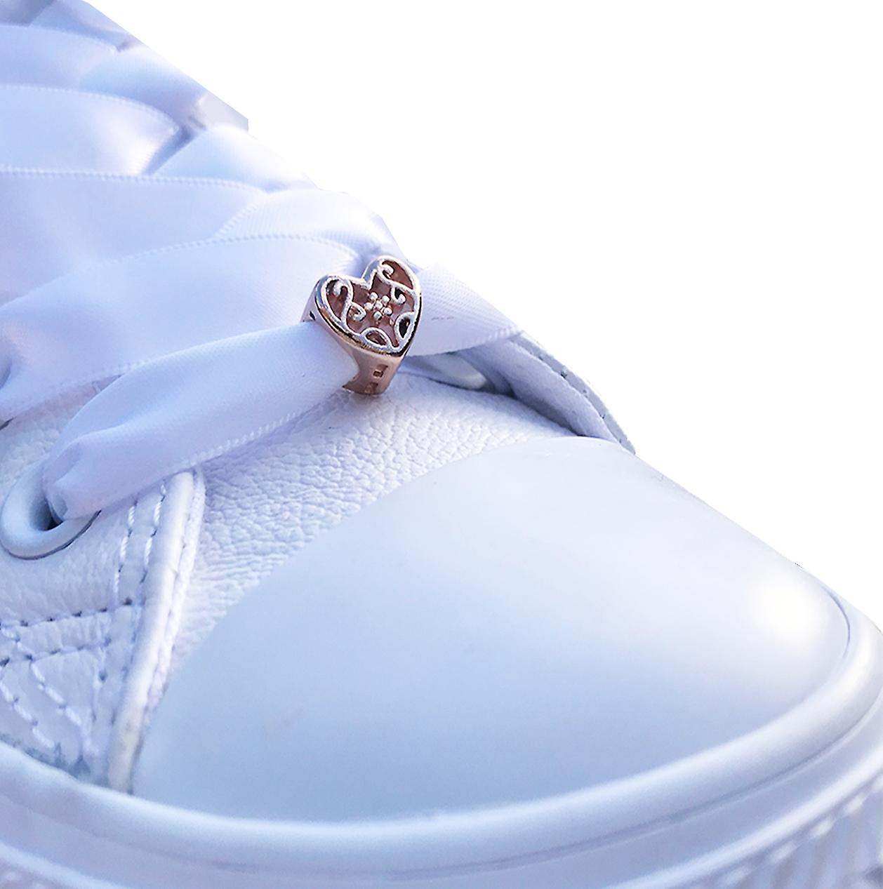 Or Rose Coeur Shoe Charms