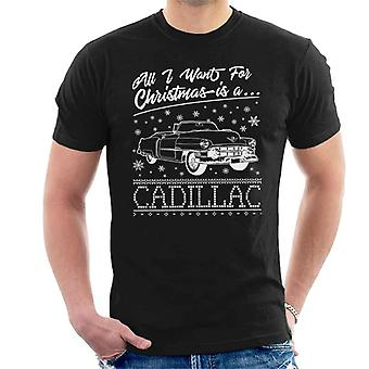 All I Want jouluksi on Cadillac Miesten t-paita