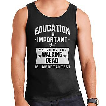 Edukacja jest ważna, ale Walking Dead jest kamizelka męska Importantest