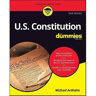 U.S. Constitution For Dummies by Michael Arnheim - 9781119387299 Book
