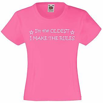 私は最も古いルール ホット ピンク女の子 t シャツを作ります