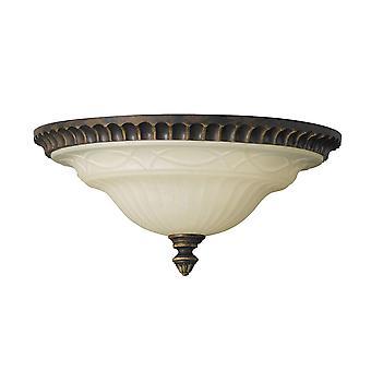 Salon vlašského ořechu dva lehké proplachovací stropní světlo-Elstead Lighting FE/Drawingrm/FE/DRAWINGRM/FA
