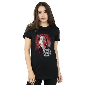 Marvel kvinnors Avengers Endgame Black Widow borstad pojkvän Fit T-Shirt