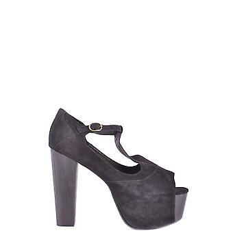 Jeffrey Campbell Ezbc132002 Women's Black Leather Sandals