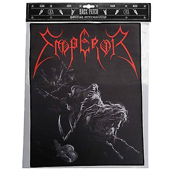 Emperor Back Patch Rider Band Logo Official New Black Cotton Sew On 36cm x 29cm