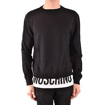Moschino Ezbc015080 Men's Black Cotton Sweater