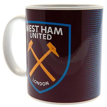 West Ham United FC Large Crest Mug