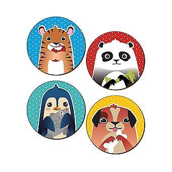 Grindstore animal Munchies 4 pieza Coaster set