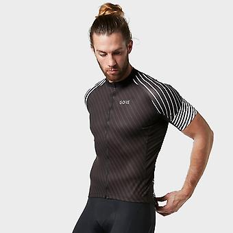 New Gore Men's C3 Cycling Short Sleeve Jersey Black/White