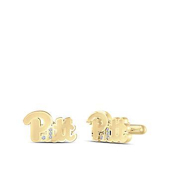 PITT Diamond Cuff Links In 14K Yellow Gold
