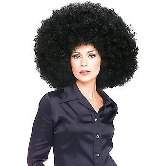 Super Afro Jumbo Fro svart 1960-årene 1970-tallet 1980-tallet Hippie Disco menn kvinner kostyme parykk