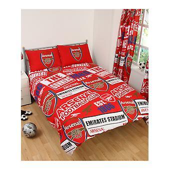 Arsenal FC patch påslakan och örngott set