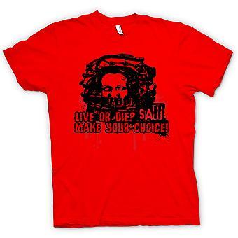 Mens T-shirt-Saw Live oder sterben - Horror - Film